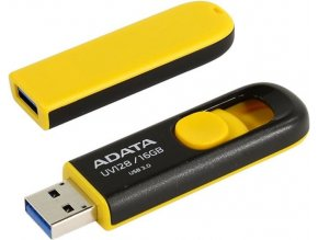 ADATA flashdisk USB 3.0 UV128 16GB yellow