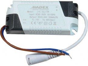Zdroj-LED driver 15-18W, 230V / 43-64V / 300mA pre podhled.světla M119-20