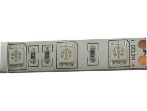 LED pásik GROW 12V 10mm plnospektrálne, 60x LED5050 / m, IP65, modul 5cm