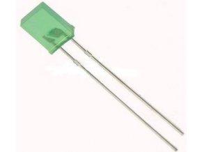 LED 2,5x5mm zelená difúzna VQA24
