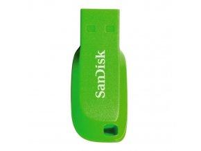 SanDisk flashdisk USB 2.0 16GB Cruzer Blade elektricky zelená