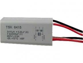 Odrušovací filter TSK6415 2x10uH + 0,22uF + 2x2n5 2,5A
