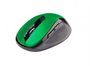 C-TECH Myš WLM-02 bezdrôtová, 6tlač. čierno-zelená