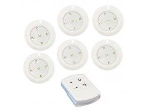 Bezdrôtové LED svetlo s diaľkovým ovládaním, 6ks