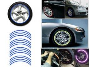 Reflexné pásky na kolesá, modrá