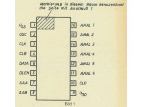 U804DC - D/A převodník, DIP16 /SAB3013/