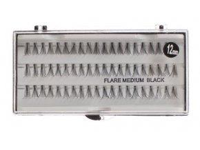 Řasy umělé nalepovací v trsech 12mm, 60ks
