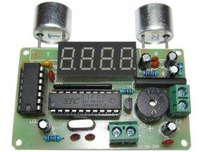 Ultrazvukový merač vzdialenosti a alarm - STAVEBNICA