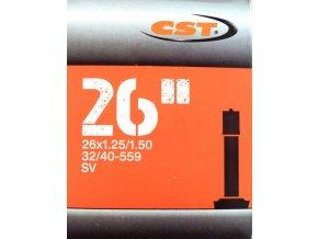 """duše CST 26""""x1.25-1.50 (32/40-559) AV/33mm"""