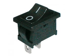 Prepínač kolískový 2pol./2pin ON-OFF 250V/6A čierna 0-I