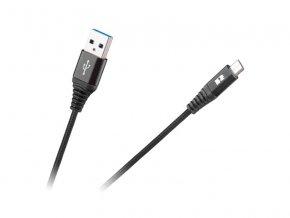 Kábel REBEL USB/Micro USB čierny 1m
