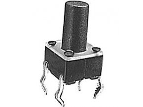 Mikrospínač 6x6mm v = 9,5mm