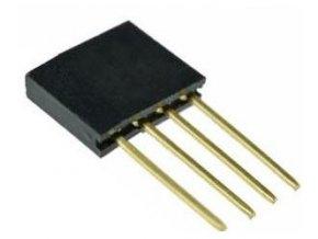 Dutinková lišta 4pin s rozstupom 2,54mm pre PCB