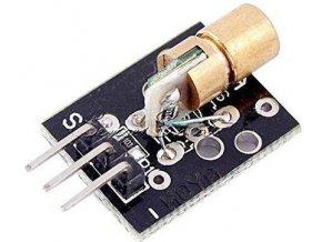 Laser 5V / 650nm s optikou - modul KY-008 - červený