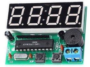 Digitální hodiny LED s STC11FC2, 4digit - elektronická stavebnica