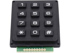 Maticová klávesnica 3x4