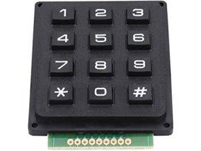 Maticová klávesnice 3x4