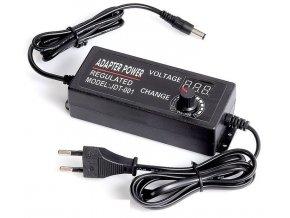 Napájač, sieťový adaptér HLF-001, 3-12V / 5A spínaný, regulovateľný