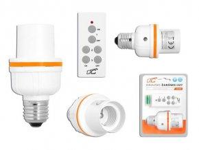 Diaľkovo ovládané objímka žiarovky E27 + ovládač, LTC
