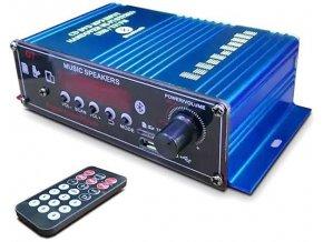 Zosilňovač 2.0 2x18W s AUX IN, Bluetooth, USB, SD kartou a rádiom