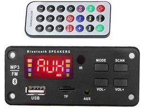 FM rádio, prehrávač MP3 s bluetooth 5.0, diaľkové ovládanie, napájanie 5V