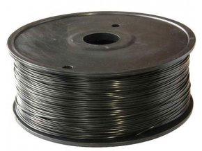 Tlačová struna 1,75mm čierna, materiál PLA, cievka 1kg / 3D tlač /