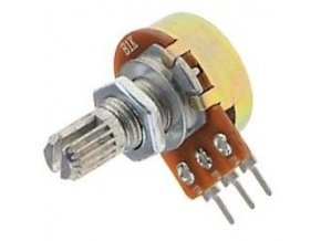 500k / N, 16K1, hriadeľ 6x15mm, potenciometer otočný