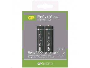 Baterie GP ReCyko+ Pro Professional 2000 HR6 (AA), krabička 2 kusy