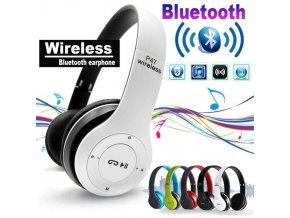 Bluetooth bezdrôtová slúchadlá P47 biele