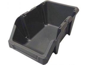 Stohovací bedna plastová KPA10, 102x160x73mm, šedá