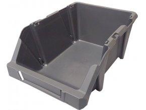 Stohovací bedna plastová KPA25, 184x304x129mm, šedá