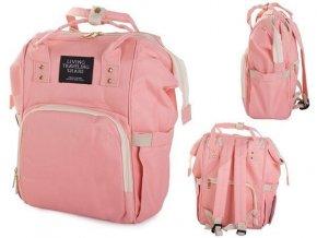 Batoh nielen pre mamičky s vodotesnou vreckom, ružový