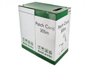 Kabel UTP Cat5e 4x2, 17x0.12x8C, šedá, lanko