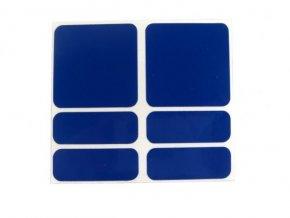 samolepky reflexní ShamanRacing set 6ks modré