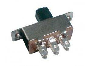 Prepínač šupátkový-stredný 2pol./6pin ON-ON (12V)