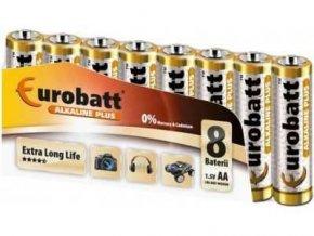 Batérie EUROBATT 1,5V AA (LR6) Alkaline Plus, balenie 8ks