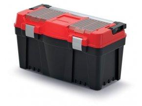 Plastový kufor na náradie APTOP PLUS červený 598x286x327