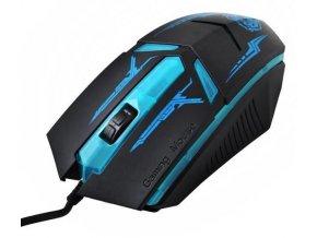 Herná optická myš, USB, modrá