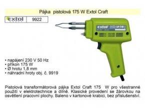 Pištoľová spájkovačka 175W EXTOL Craft