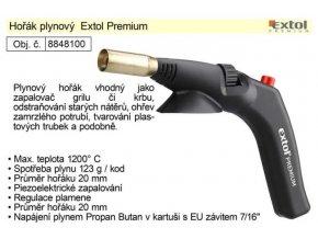 """Plynový horák Extol Premium na plynové kartuše sa EÚ závitom 7/16 """""""
