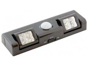 LED osvetlenie s PIR čidlom do skrine čiernej
