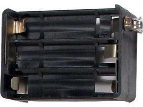 Držiak batérie 6xR6 / AA / UM3 so štipcom Ruský