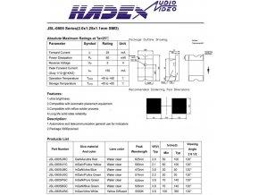 LED SMD 0805 biela číra 250mCd / 25mA 120 °
