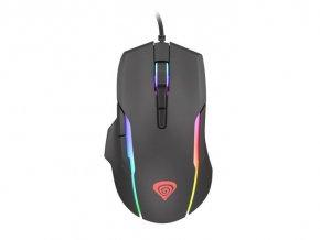 Tichá herná myš Genesis Xenon 220, RGB podsvietenie, softvér, 6400 DPI