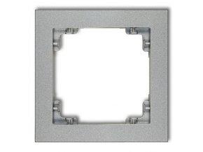 Rámeček jednonásobný, stříbrný metalický, DECO Karlik