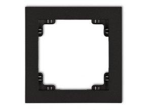 Rámeček jednonásobný, černý mat, DECO Karlik