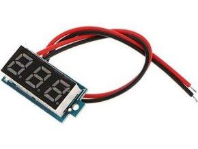 Voltmeter panelový LED červený, 3-30V