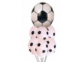 Balónky fotbalové s konfety 33cm, bílé, 10ks
