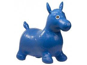 KIK Skákací nafukovací koník 60x50cm modrý