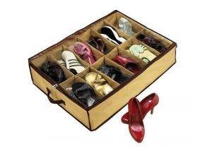 Organizér na obuv - 12 priehradiek, béžový